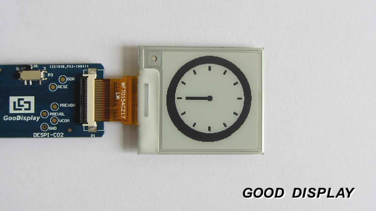 goodisplay small 1.5/1.54/2 inch e ink display usb for smart watch