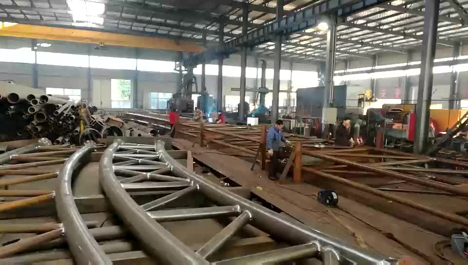 Steel Construction Project Corrugated Roof Trusses