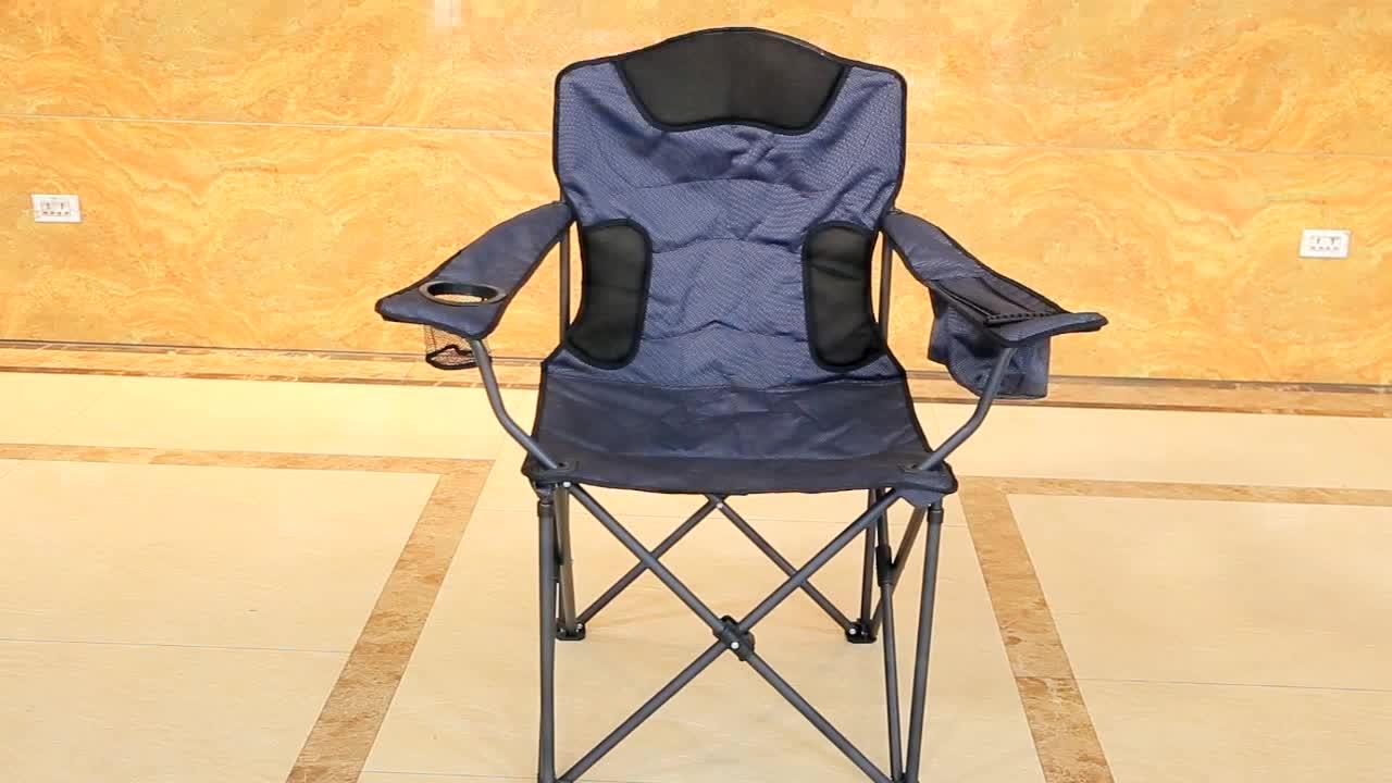 경량 휴대용 금속 태양 안락 쿨러 가방 컵 홀더 접이식 비치 의자 캠핑