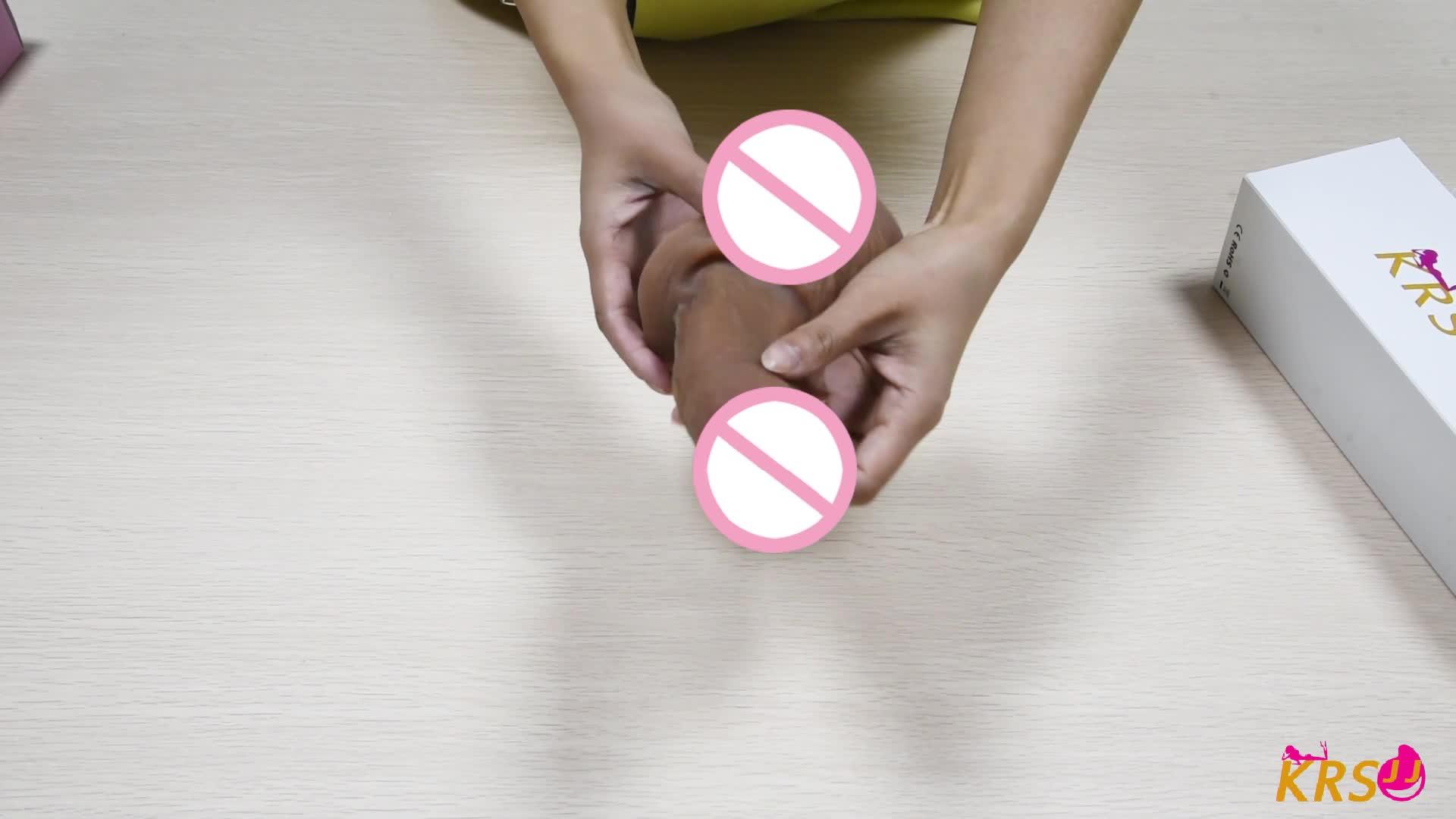 Strap On Liquid Artificial Realistic Silicone Penis Big Soft Plastic Dildo