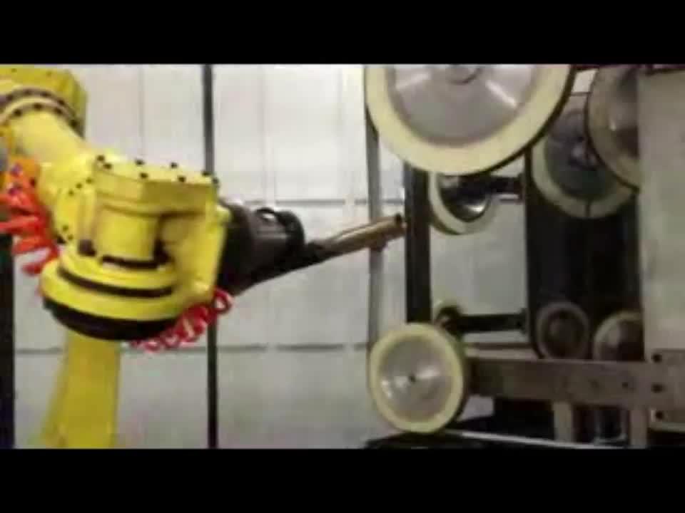 Robot arm automatische controle systeem meerdere slijpen en polijsten machine