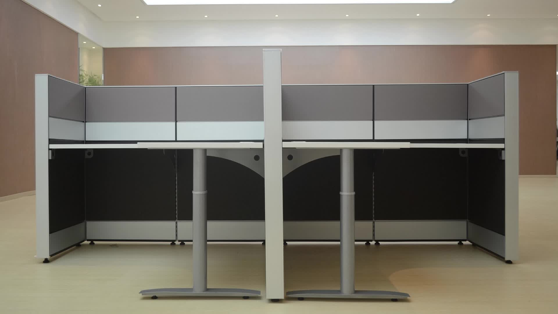 Office Used Furniture Modular Partition Cubicles 2 Person Work Bench Office Workstations