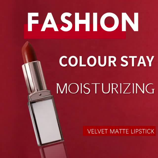 Private Label Long Lasting Lip Stick Custom Semi Velvet Matte Lipstick