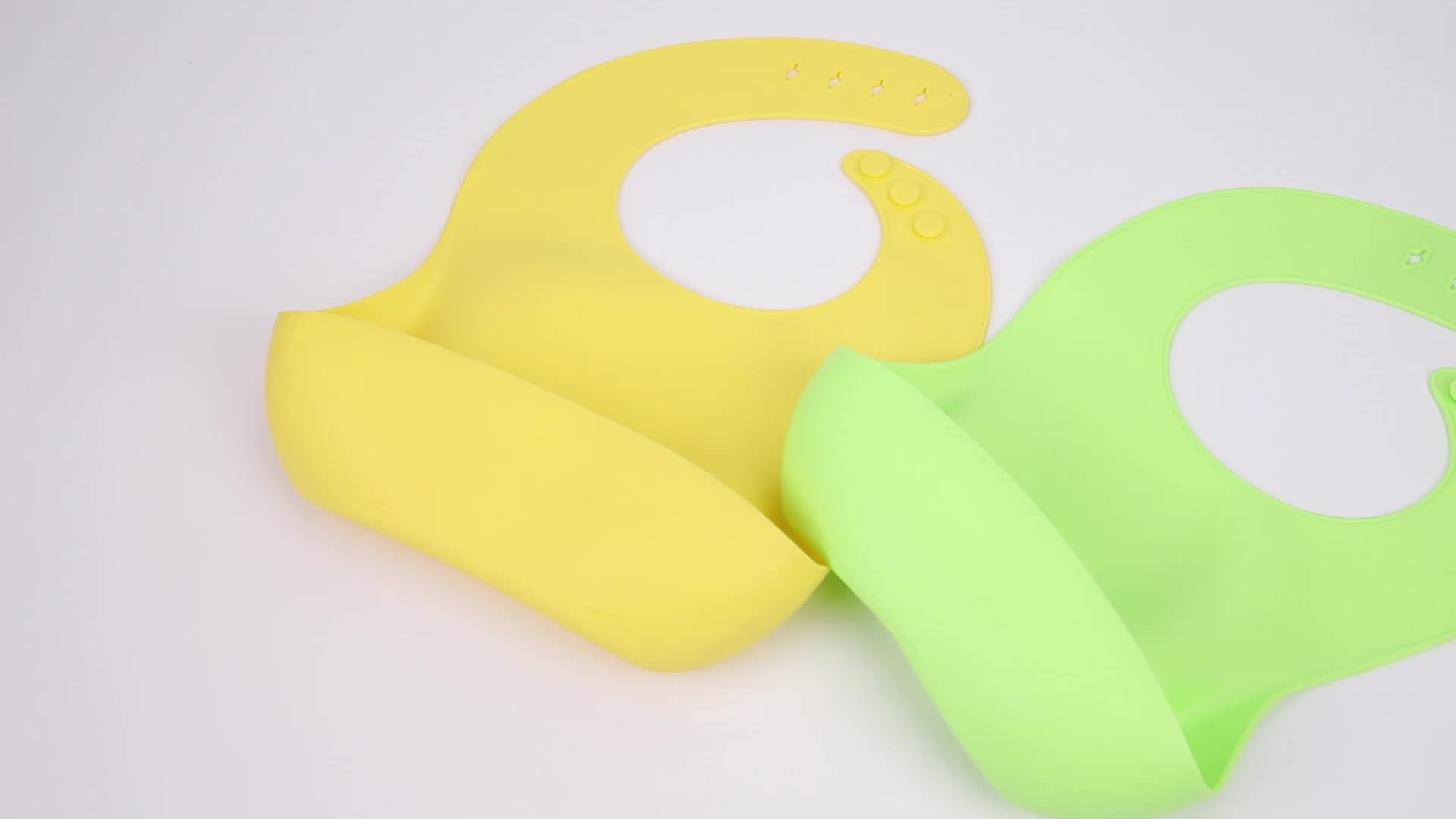 Competitive Price Soft Waterproof Silicone Baby Bib Set For Feeding