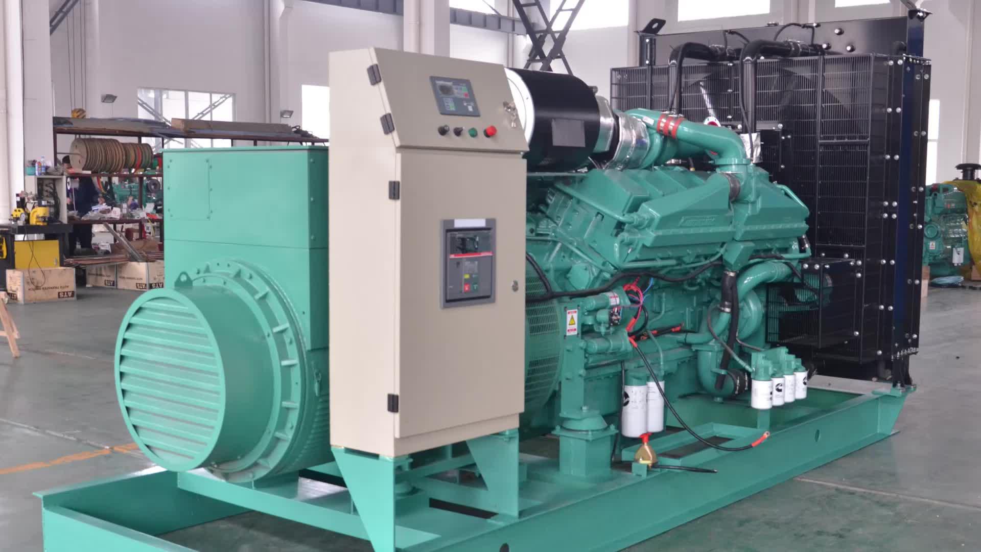 Continuouts power 900kw diesel generator set 60Hz elektrische aggregat mit Cummins motor