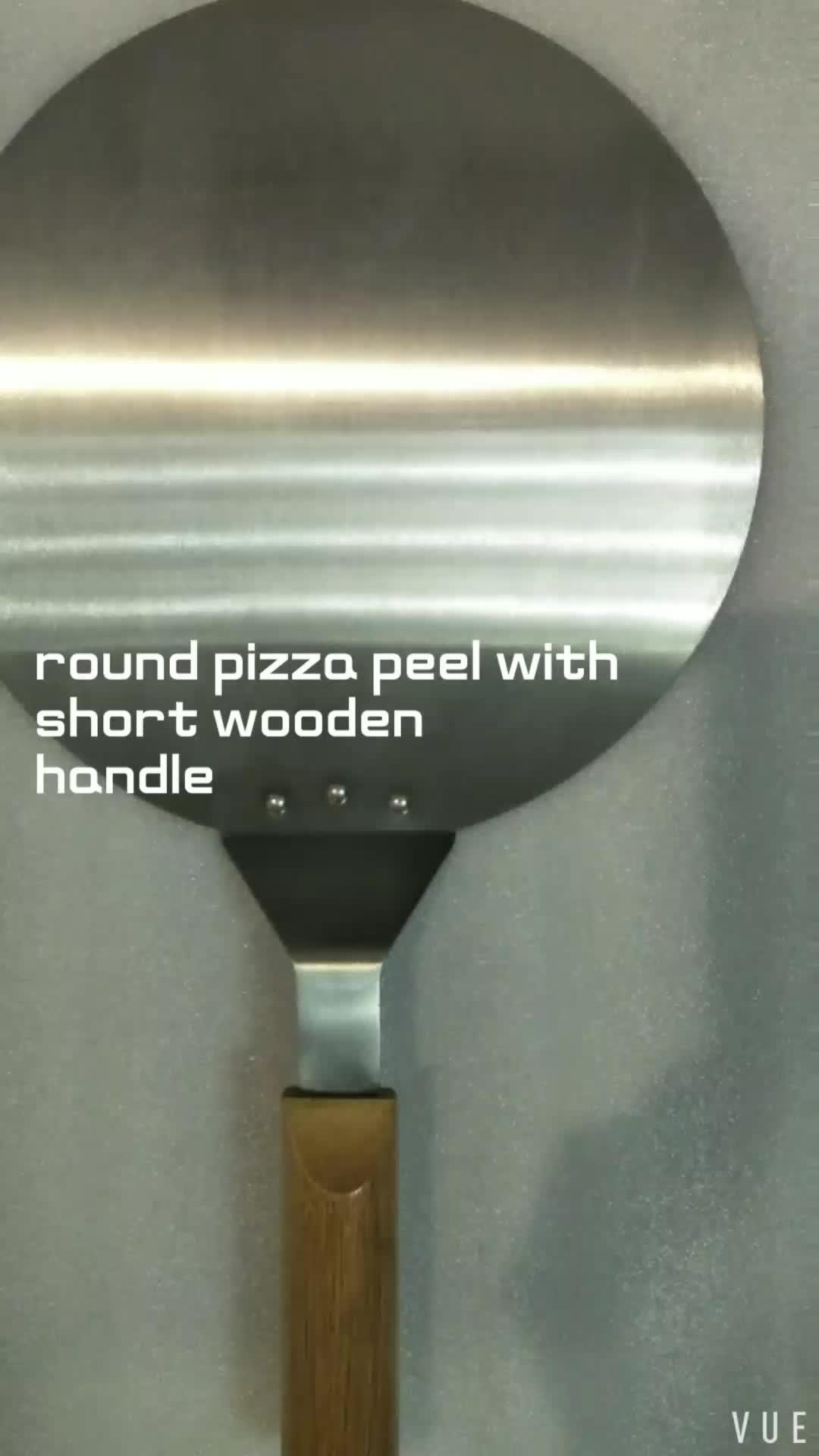 प्रयोग करने में आसान के साथ दौर एल्यूमीनियम रंग तय लघु रबर लकड़ी पिज्जा छील