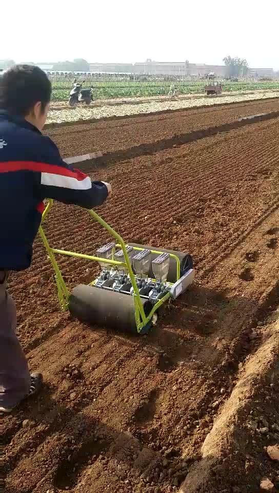 Manuelle Gemüse Seeder Pflanzer Manuelle Hand Push Sämaschine Handheld Sämaschine