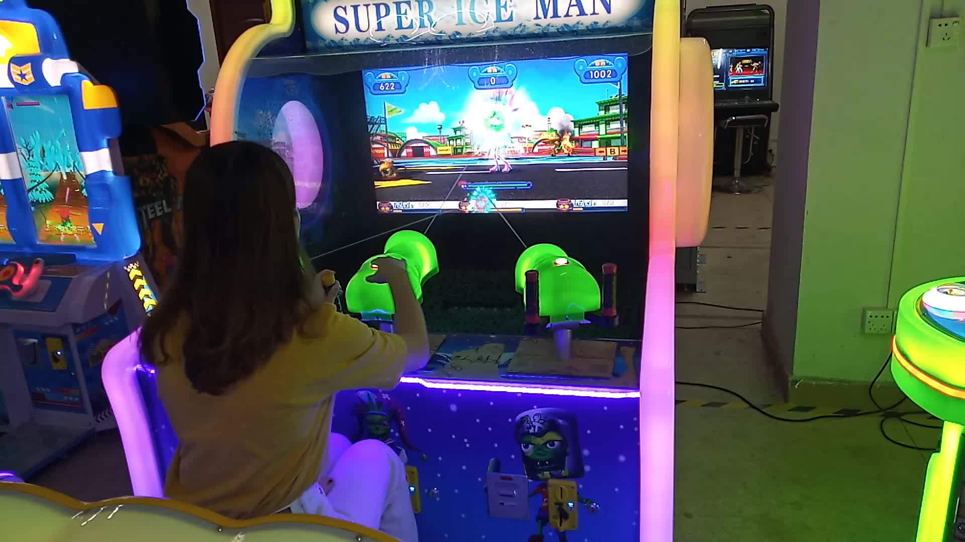 Super Ice Man Coin Operated Water Shooting Redemption Game Machine