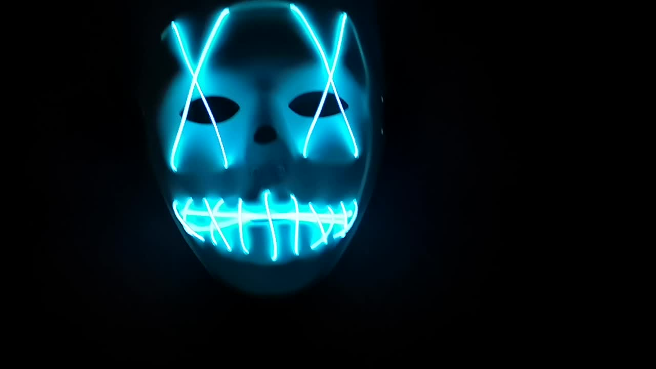 Hot Party supply Glow Halloween mask Ghost Dance EL wire for festival Costume EL wire mask