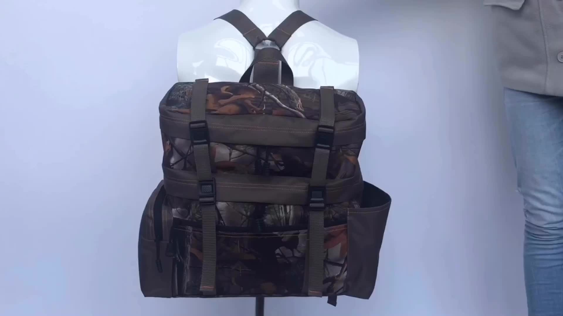New Design Adjustable Camouflage Hunting Tactical Backpack with Chest and Waist Straps