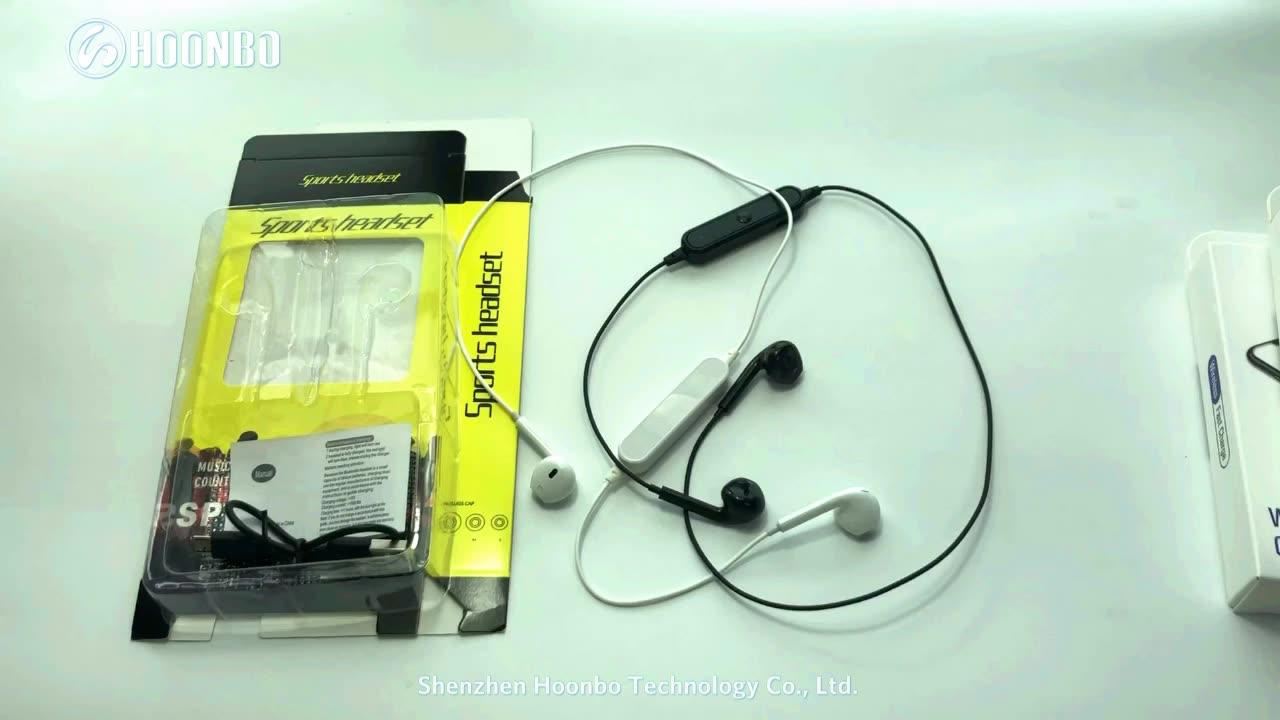 S6 Thể Thao Dây Đeo Tai Nghe Không Dây Bluetooth Tai Nghe Headphone Cho iPhone 7 8 X với Microphone cuộc gọi điều khiển âm lượng Tai Nghe