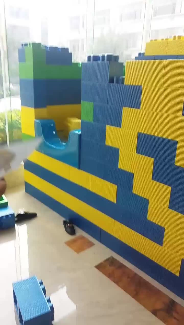 Eco-friendly EPP foam building blocks for kids educational indoor playground toys