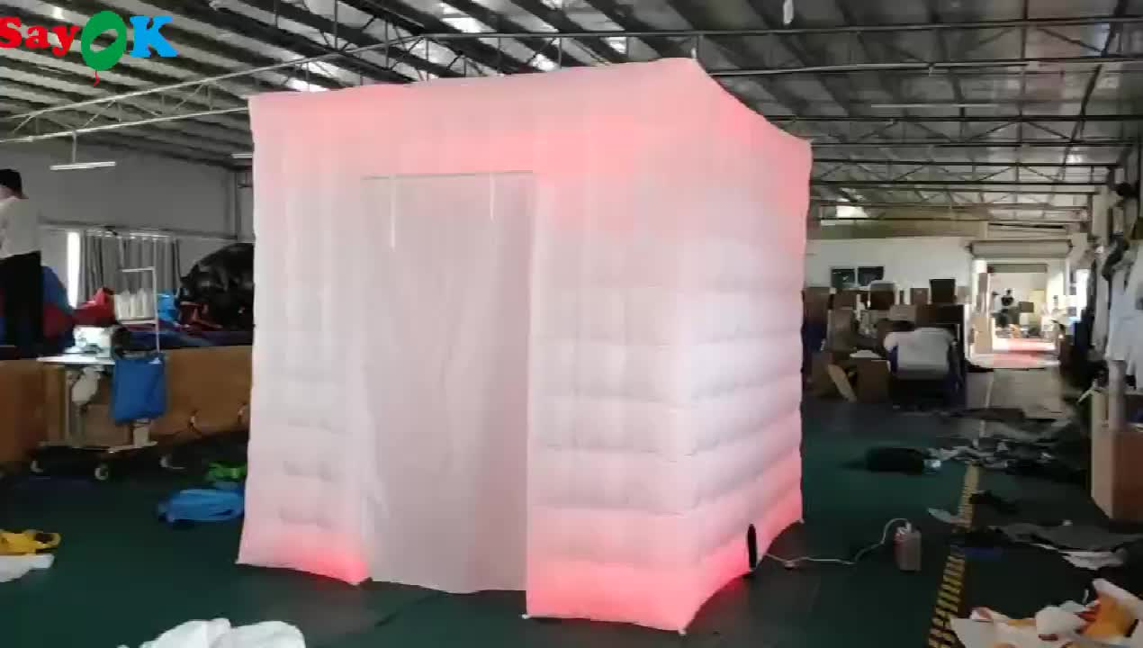 Portable lighting inflatable photo booth with led photobooth rental