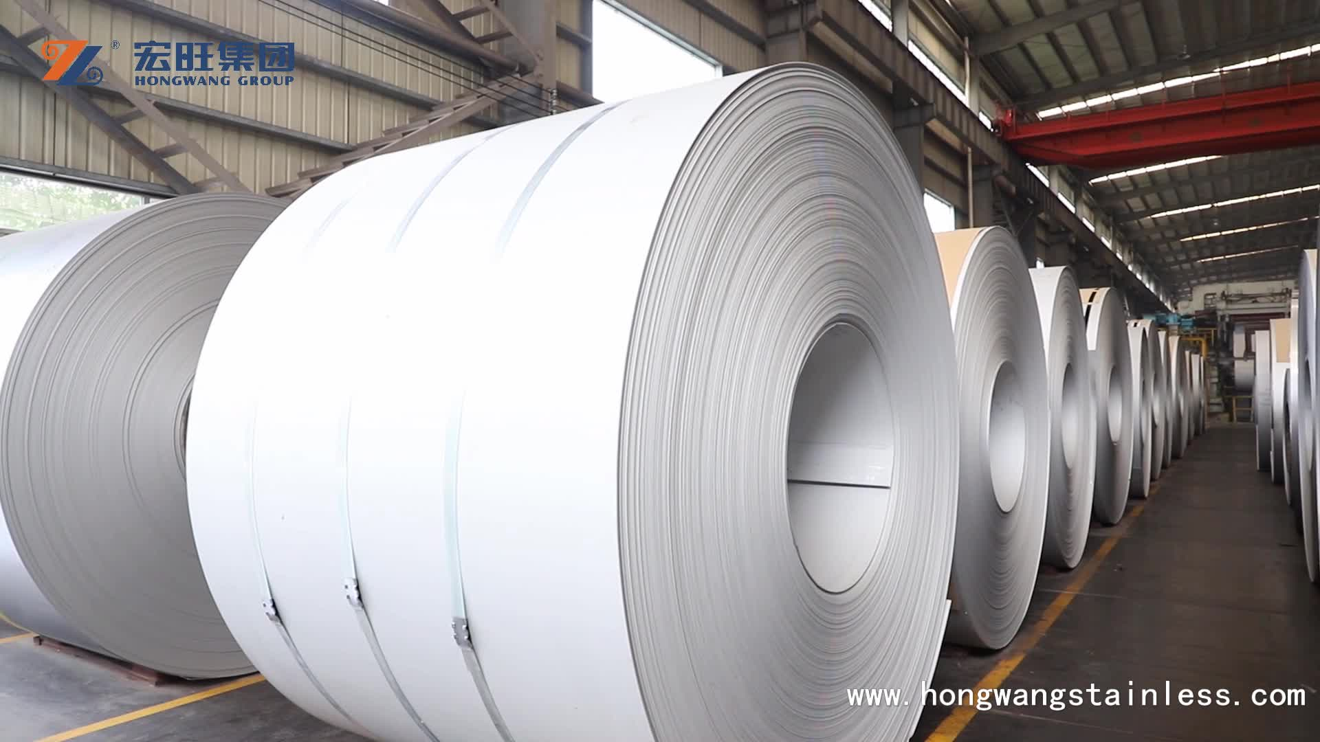 Custom size grade 201 202 304 304L 316 316L 410 420 430 hot rolled stainless steel coil price per ton made in hongwang