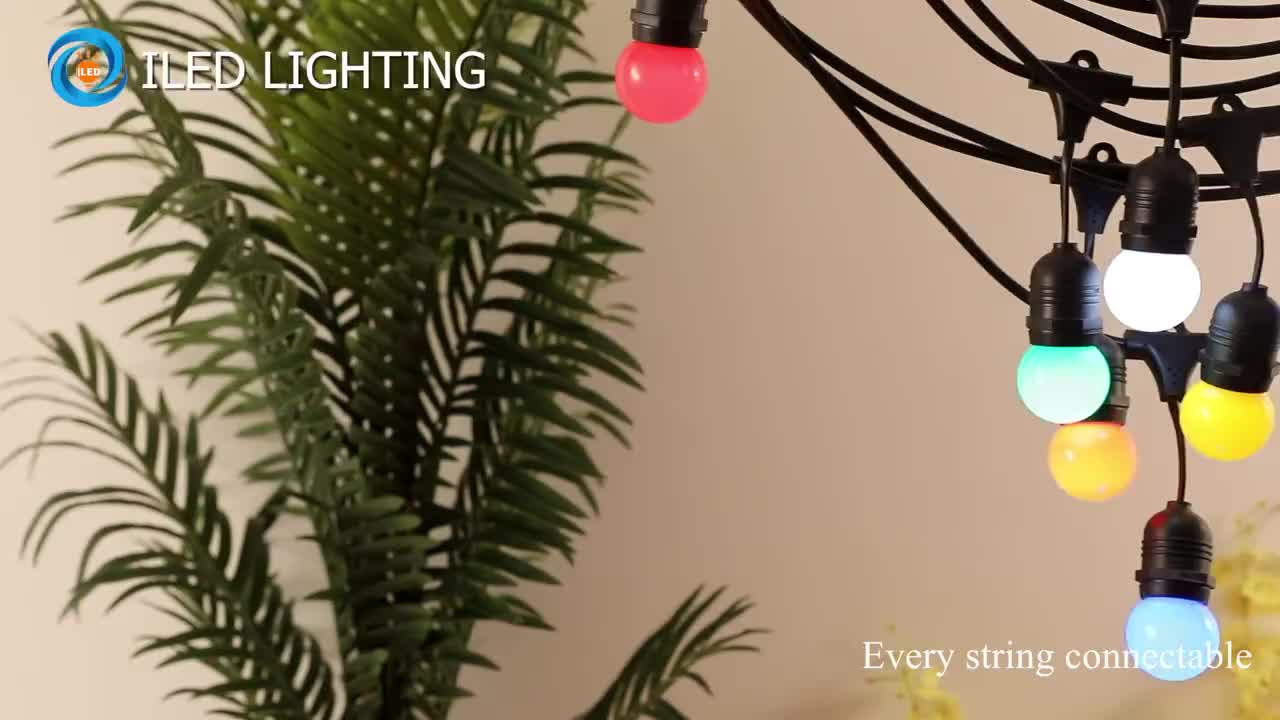 Waterproof Outdoor Big Bulb String Lights With Led Light Ball Lamp