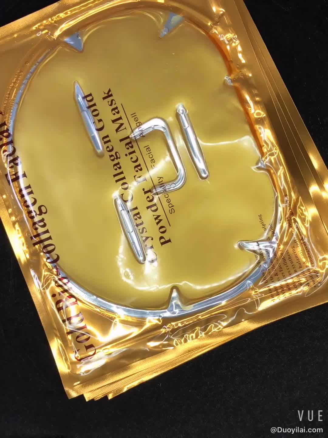 Best Selling Firming Tightening Anti Aging Pure 24K Gold Bio Collagen Crystal Facial Mask For Beauty