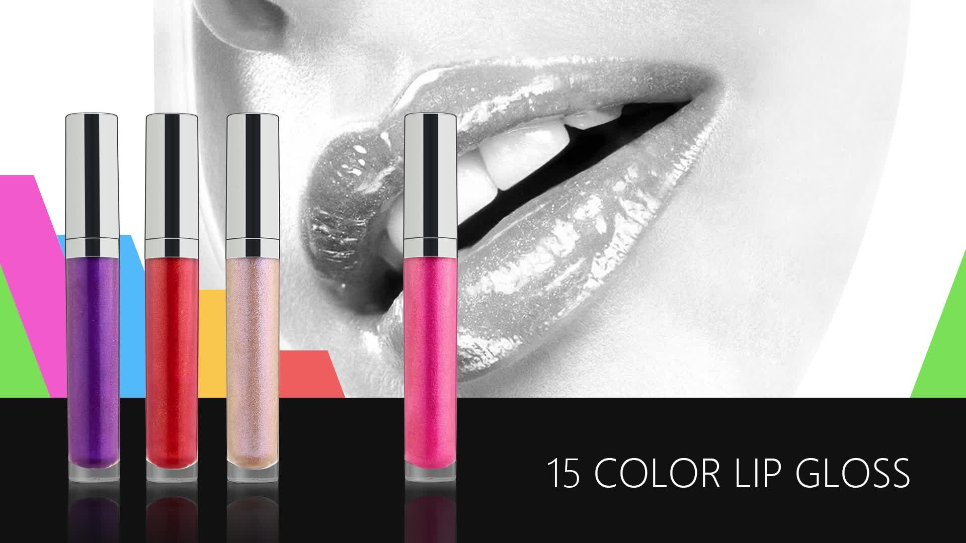 New 2018 Kosmetik Make-up hochwertige glänzende Lipgloss Lipgloss Set Private Label