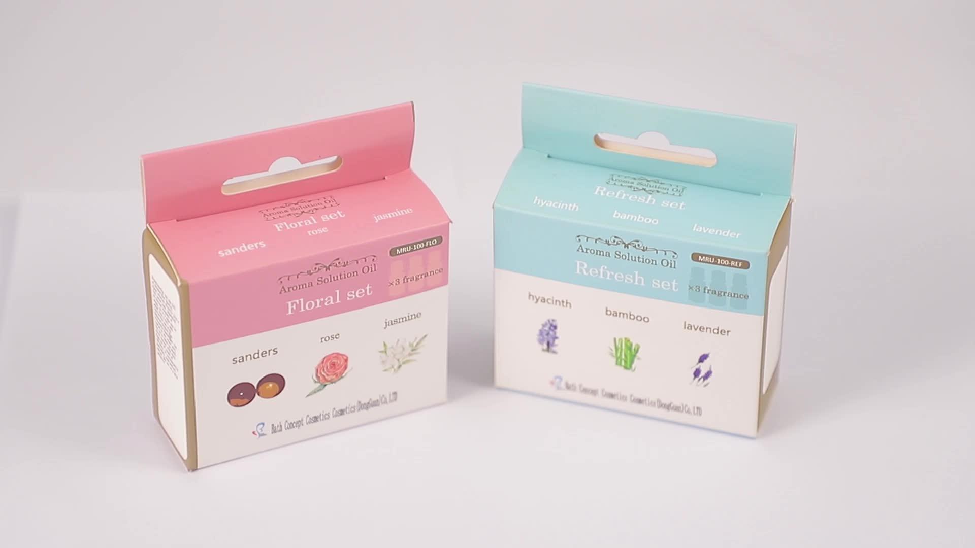 Custom made 6pcs/set pute tea tree orchid massage essential oil