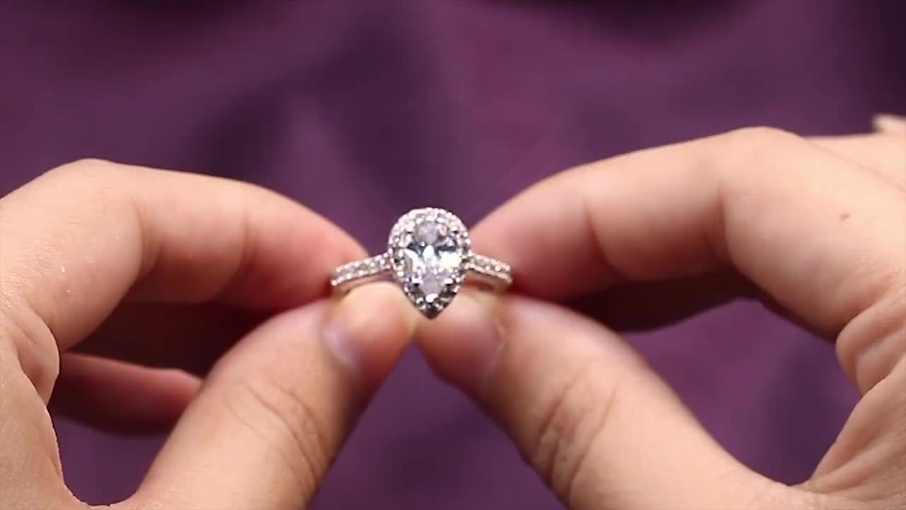Manufacturer direct sale 925 sterling silver ring cz moissanite wedding rings women