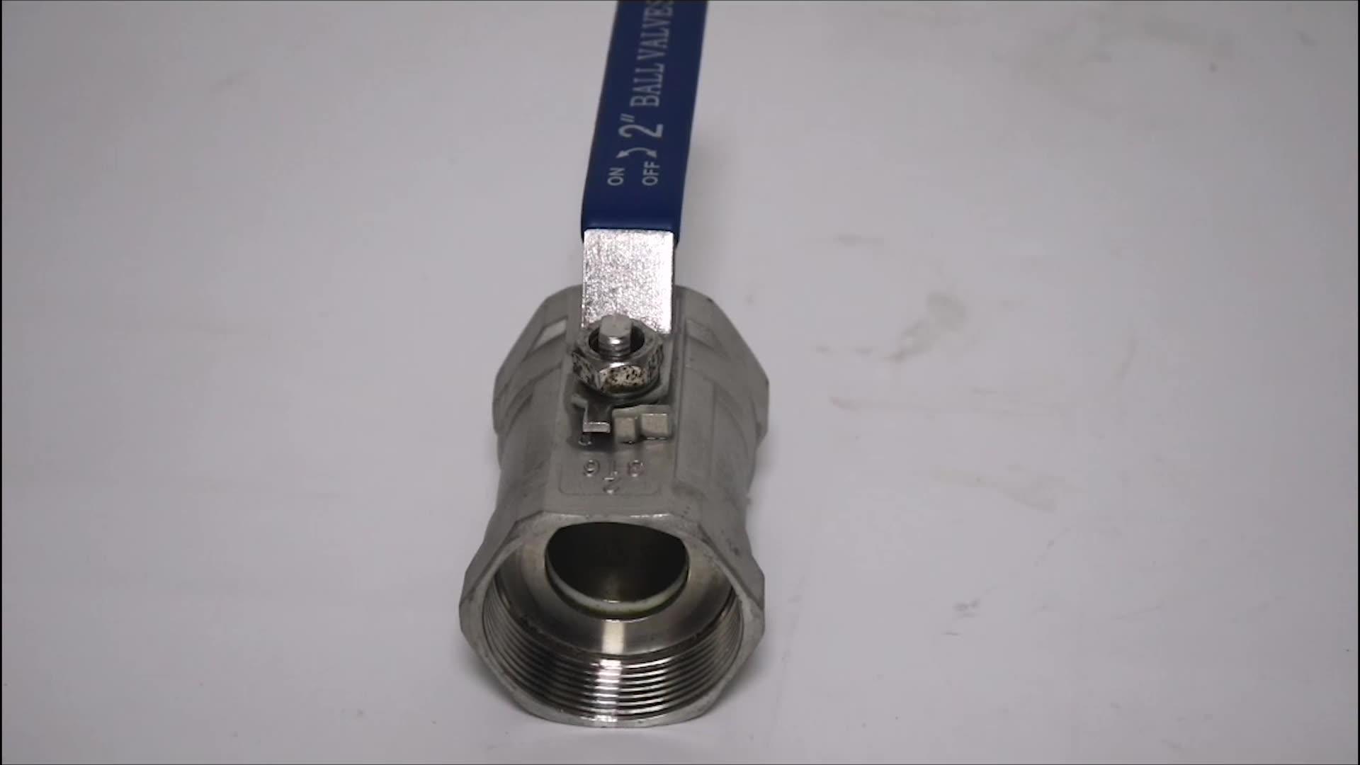 Q11F304不銹鋼一片式內螺紋 1000WOG CF8  BALL VALVE