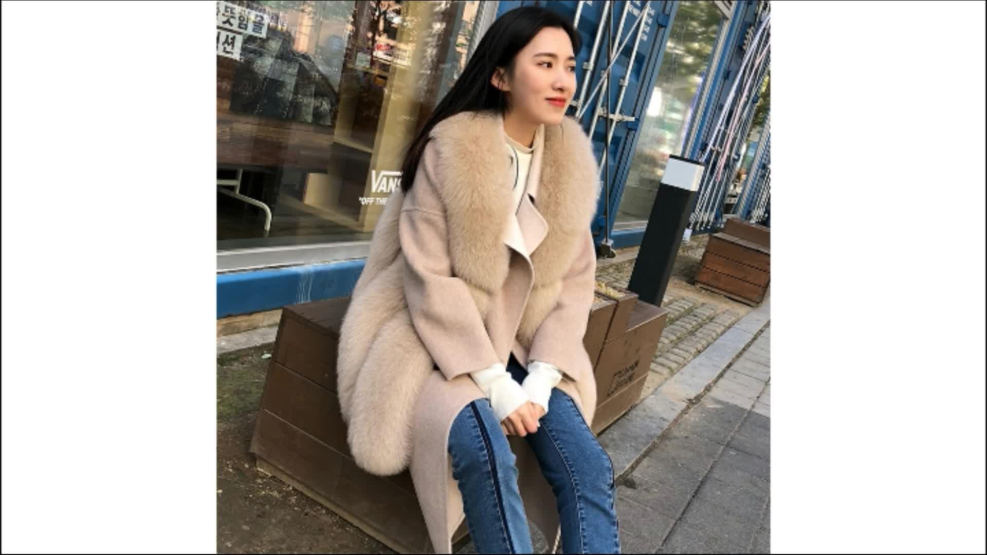 Toptan Moda Avrupa Tarzı Kadın Sahte Tilki Kürk kadın Jile/Faux Fox Kürk Yelek