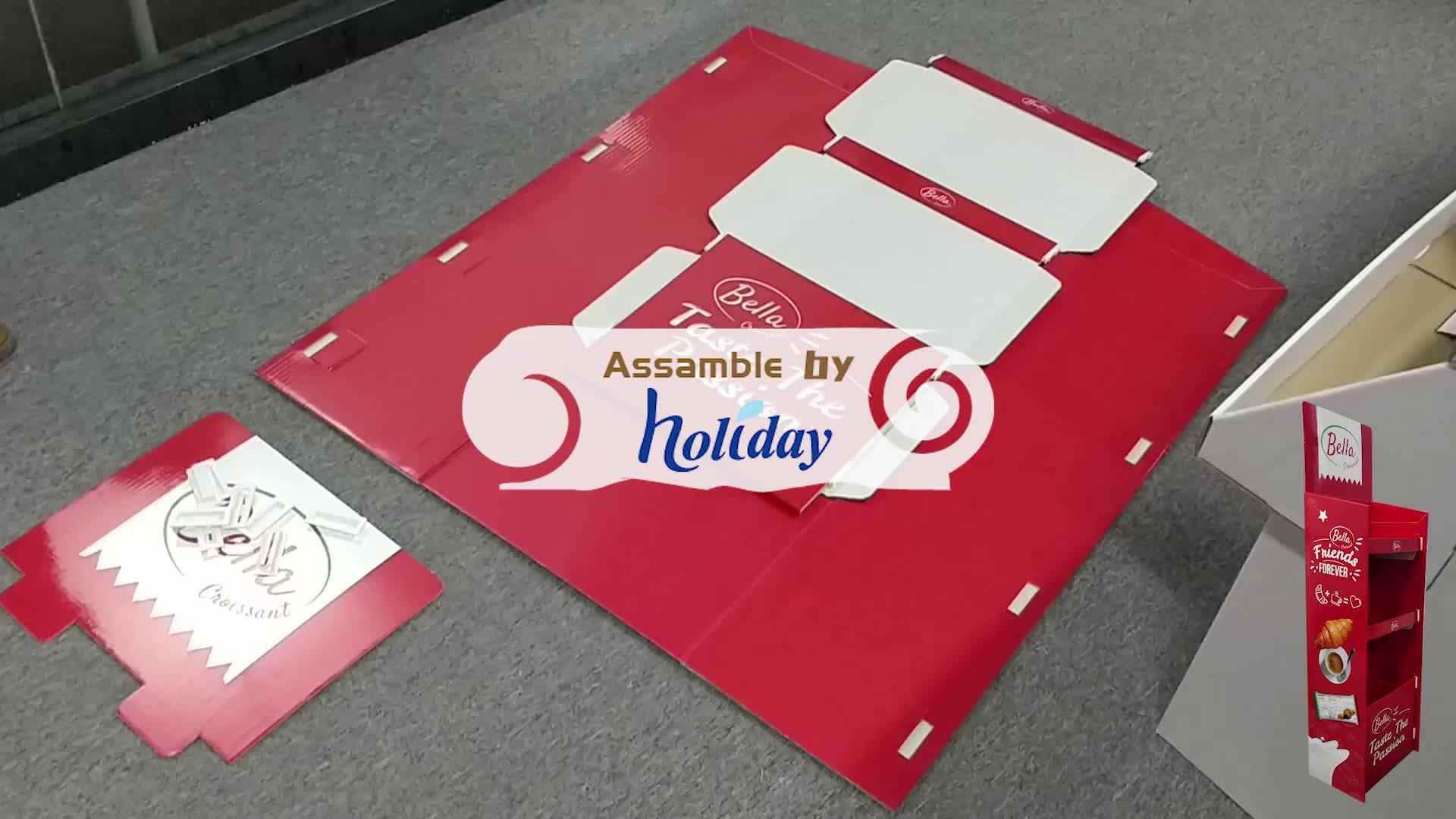 Merchandise Kartonnen Display voor Zonnebril, karton Vouwen Teller Reclame Standee