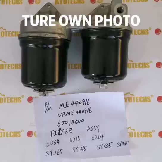 ME440916 VAME440916 60014500 FILTER ASSY FOR 6D34 6D16 6D24 SY265 SY215 SY335 SY485
