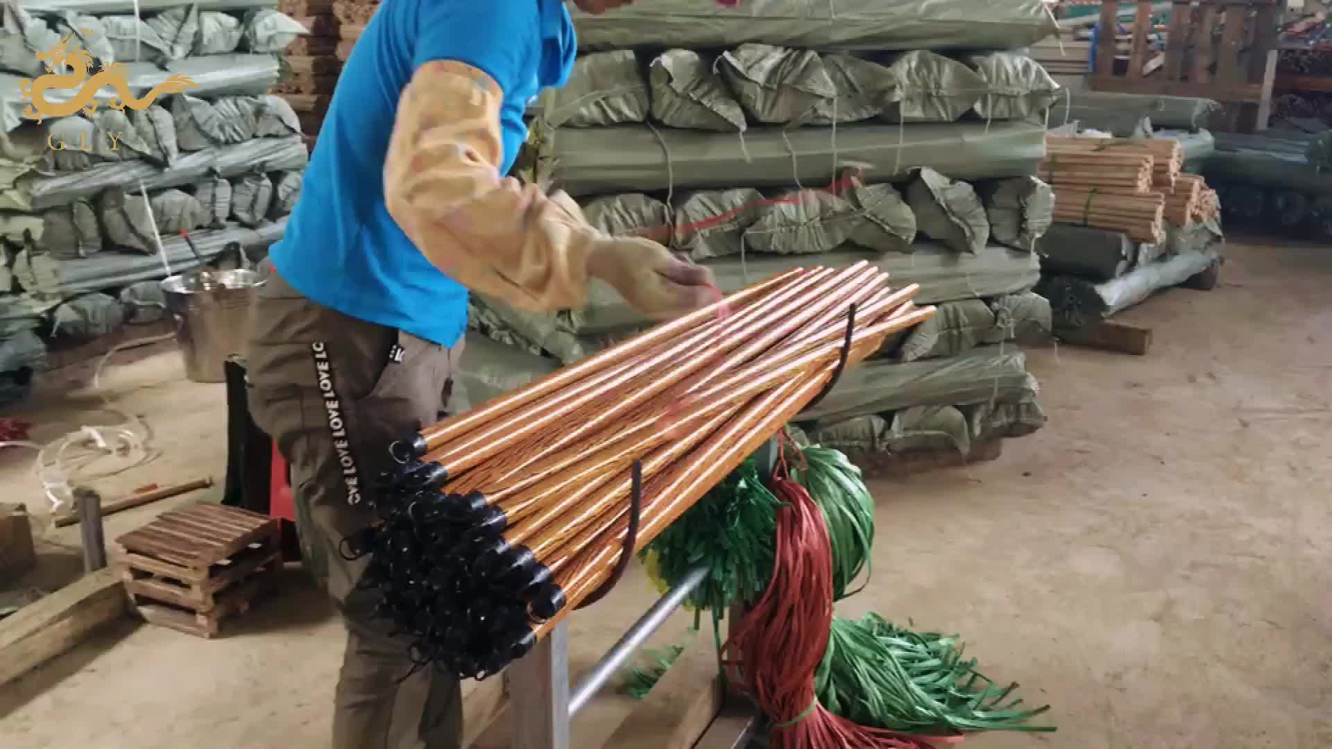 Hot Sales Eucalyptus Wood Solid and Durable Wooden Long Broom Handle
