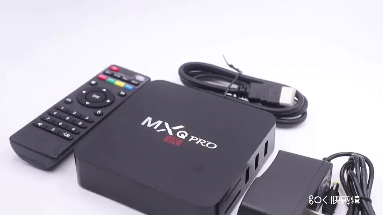 Smart Android TV Box Mxo Pro 4K Quad-Core 2.4G Nirkabel Wifi RAM 1GB ROM 8GB High Definition 4K Media Player
