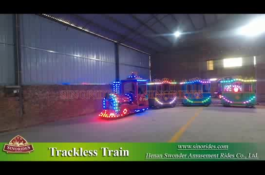 kids indoor electric sightseeing trackless train for tourist