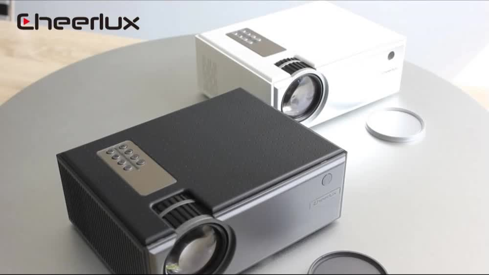 Cheerlux HD LED projector home theater system support 1080P with 1800 lumens HD video projector
