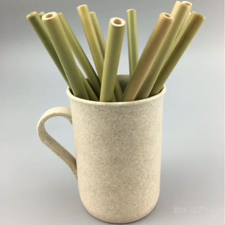 customized logo drinking natural reusable drinking straws bamboo straw