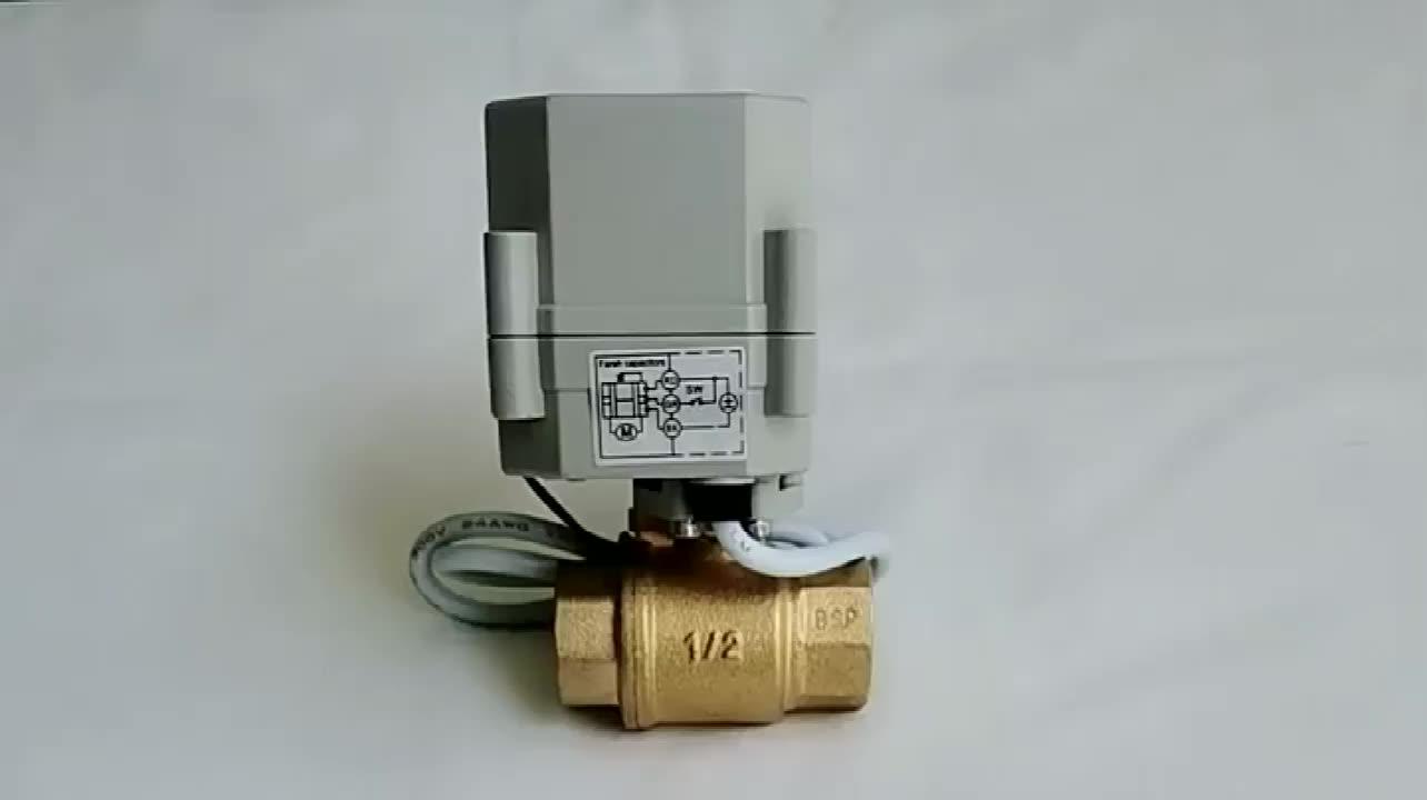 มอเตอร์วาล์ว Actuator ไฟฟ้าทองเหลือง 220 V 5V 24 V วาล์ว
