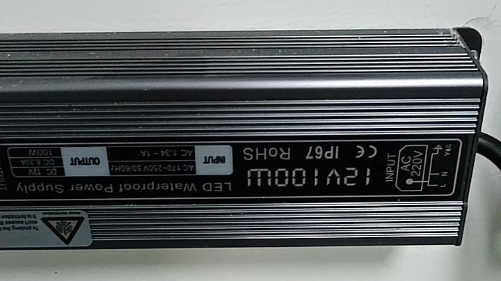 48V 24vdc 600W 100W 12V waterproof LED power supply
