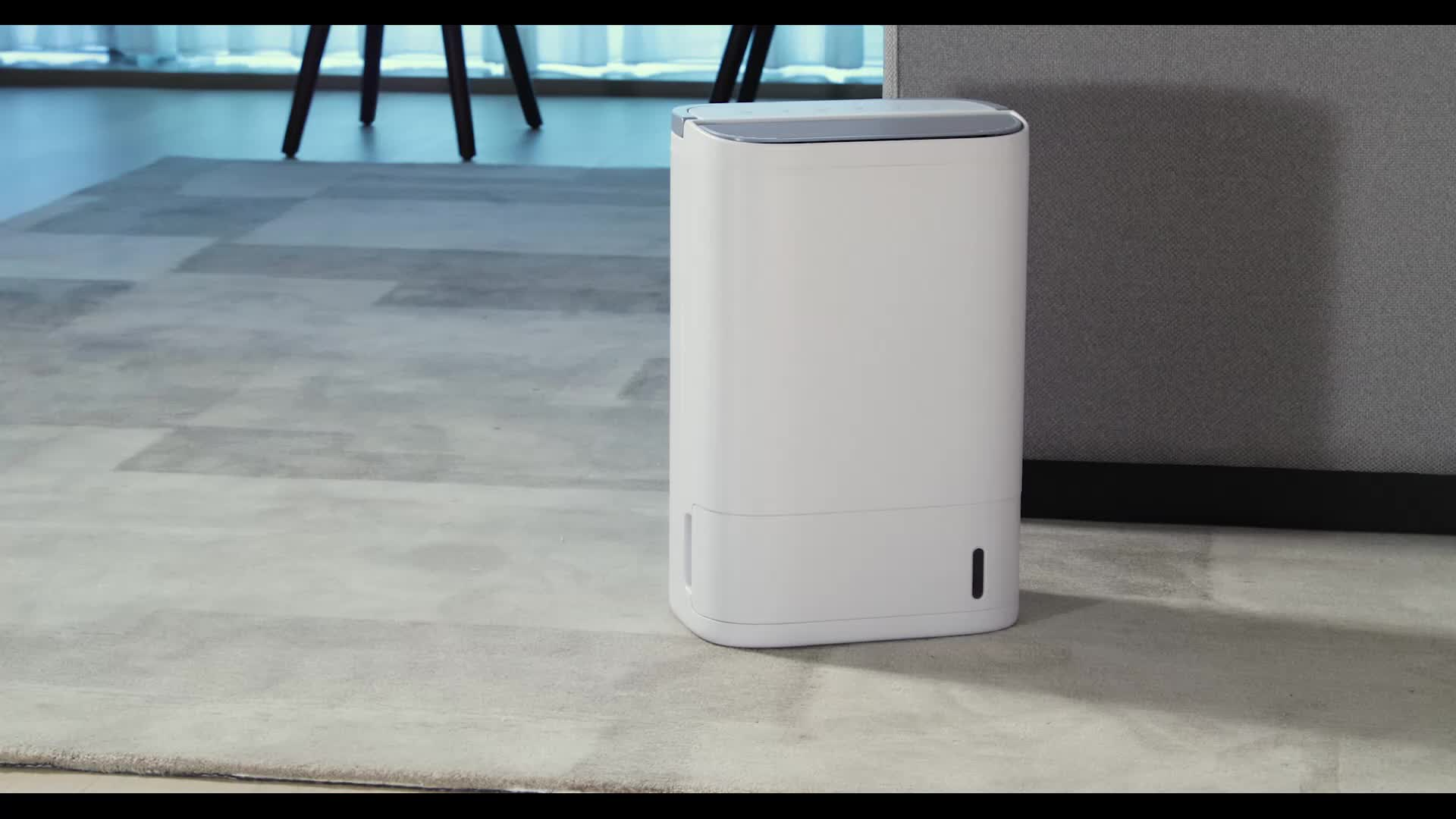 16pint/day air filter portable home 220v desiccant rotary dehumidifier with external drain connect