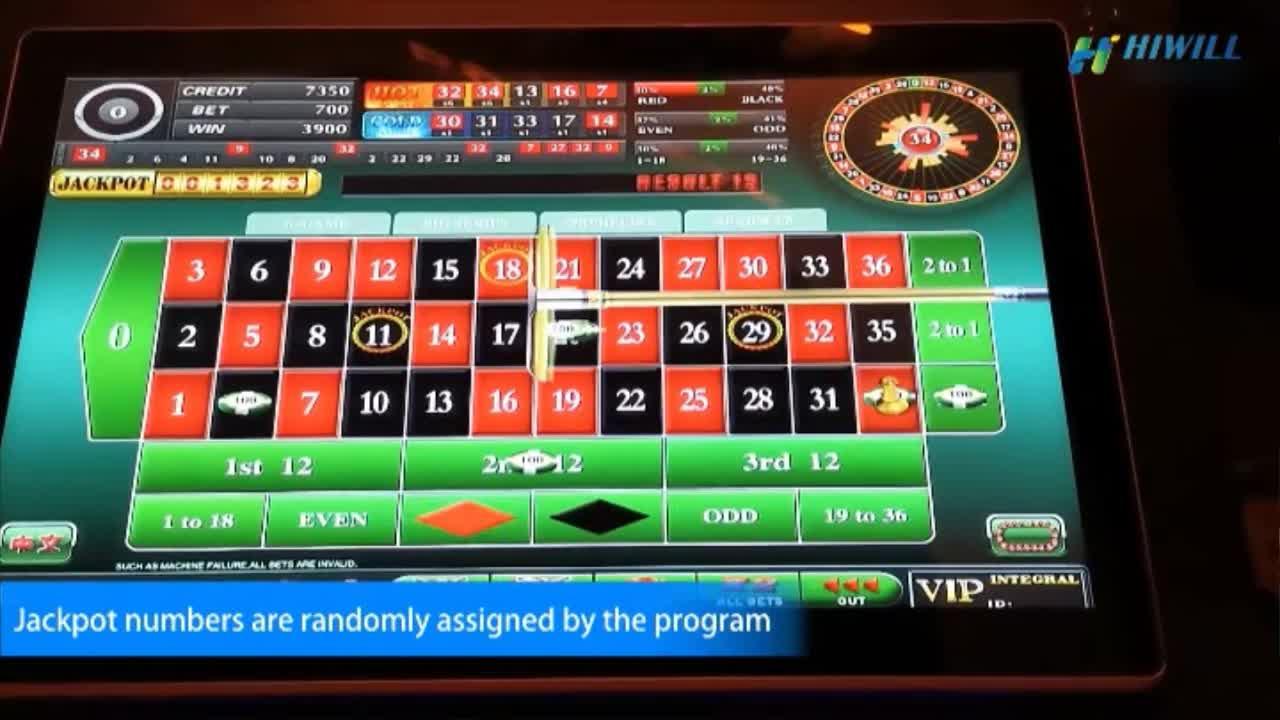 Heißer Verkauf Royal Elektronische Touchscreen Casino Jackpot Slot Glücksspiel Ausrüstung Spiel Roulette Maschine für Verkauf