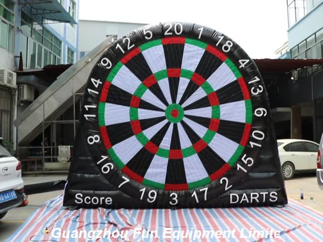 High quality outdoor sport games inflatable darts board football darts soccer darts board for sale