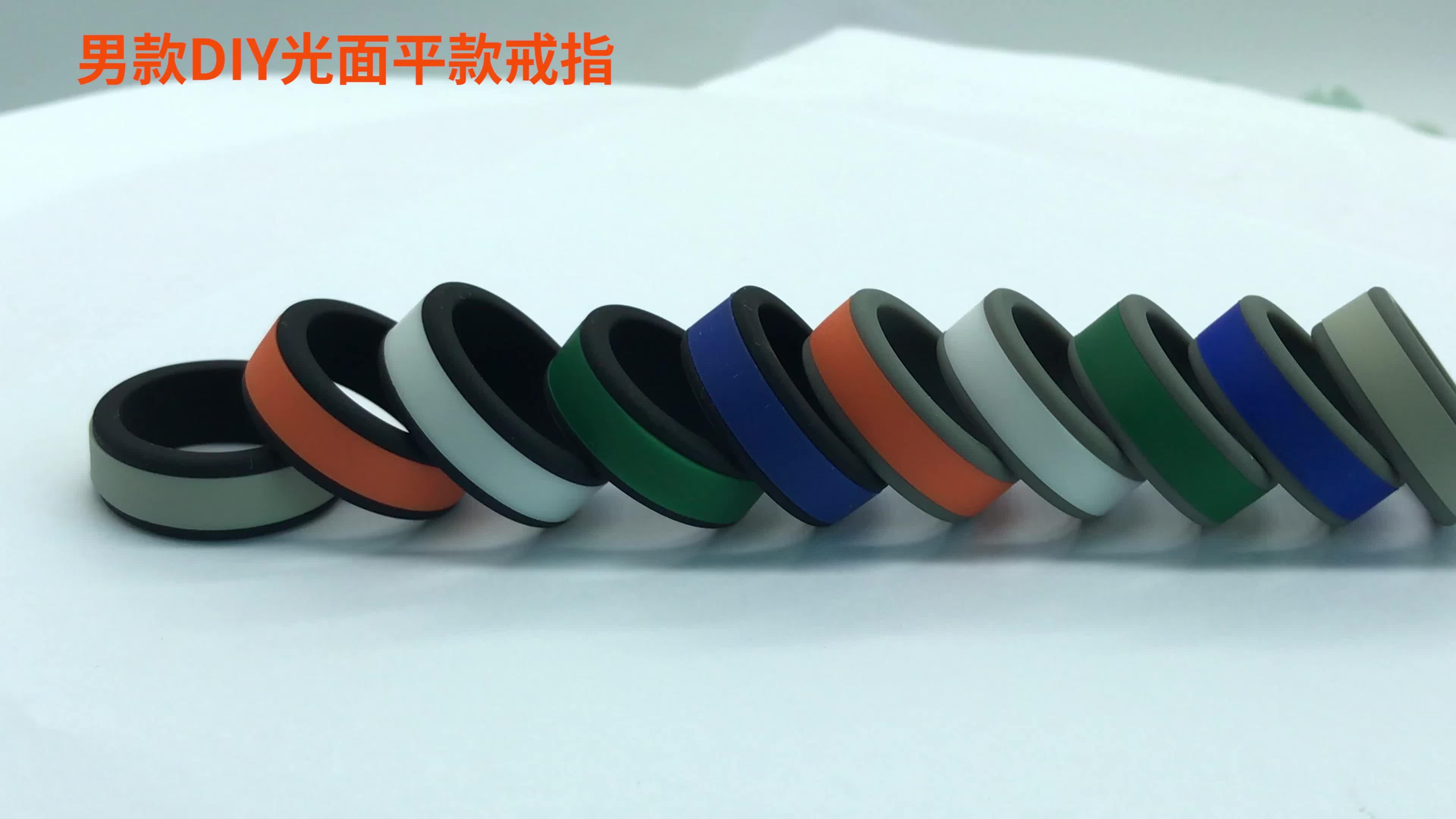 Regalo di promozione Ultimo Stile di due toni di Anelli di gomma di silicone