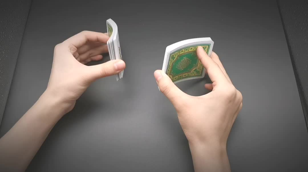 Neue ankunft wasserdicht werbung kunden kunststoff spielkarten