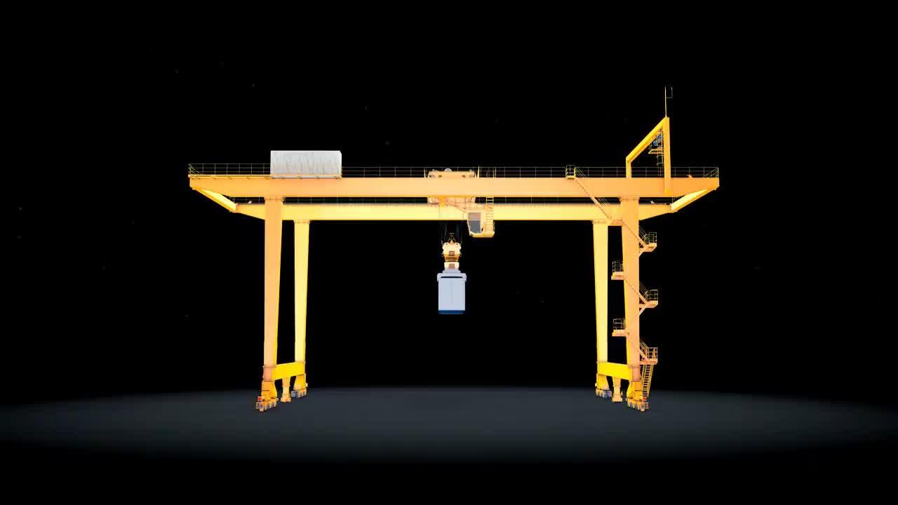 RMG Mobile Used Rail Mounted Yard Gantry Crane