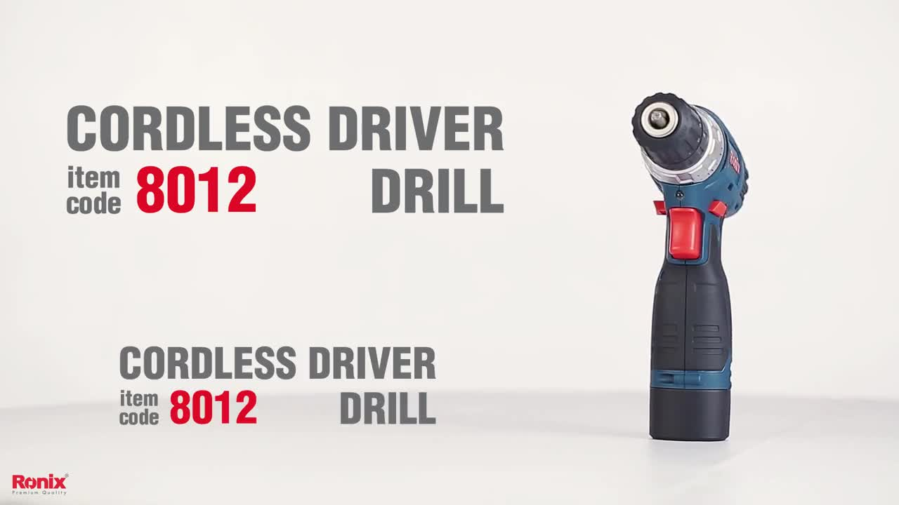 Ronix New model 8012 cordless Driver drill high quality product with best price