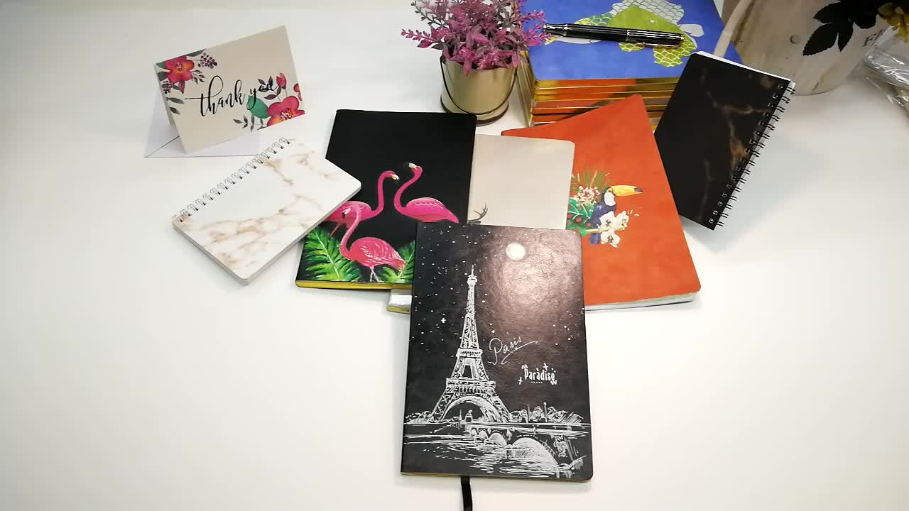 Small Order Accepted Bulk A5 A6 Simple Sof Cover PU Leather Soft Notebook