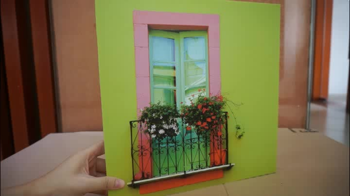 Customized Canvas Printing Plastic Acrylic Frames Photo/Picture Frame