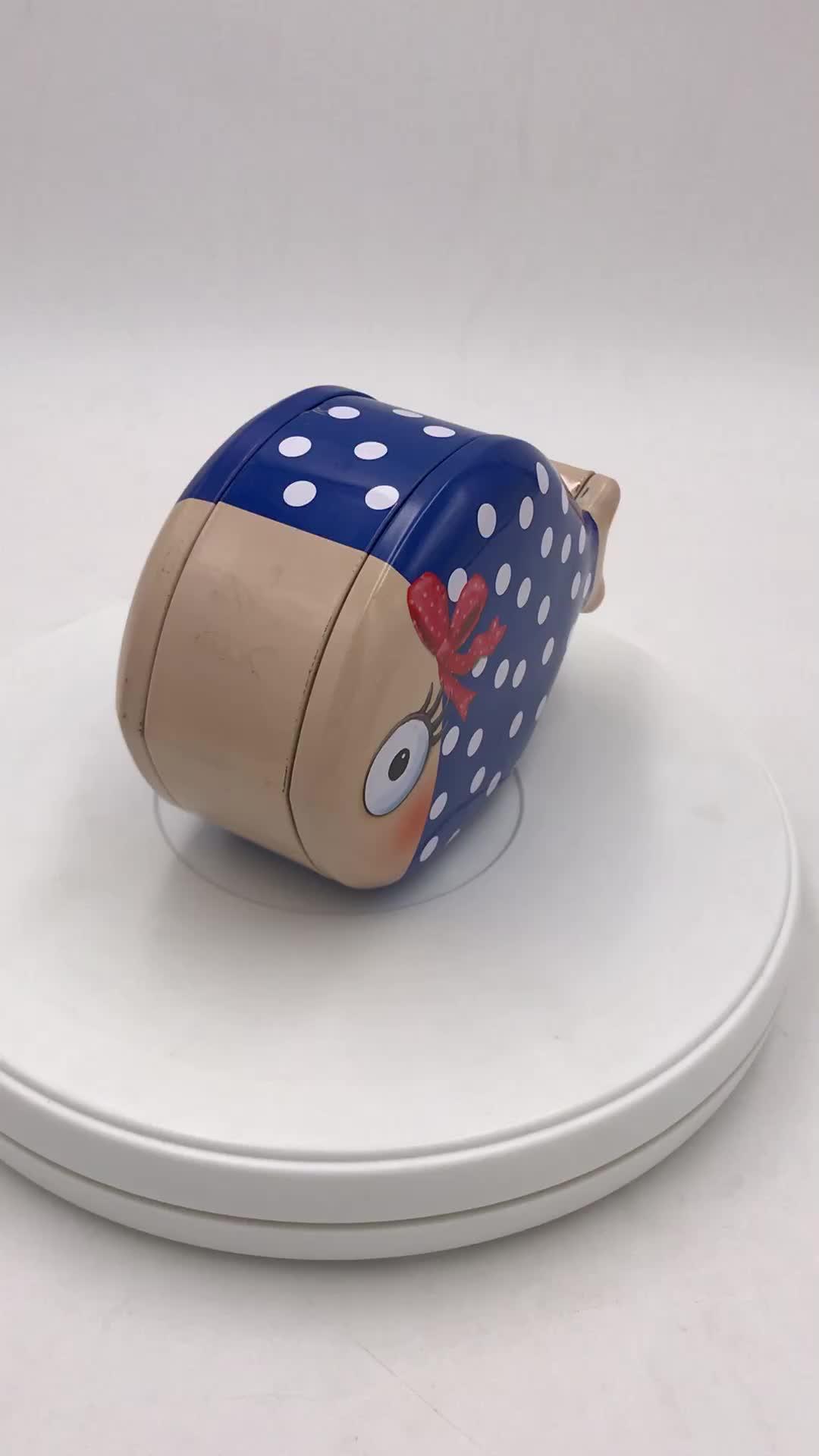 异形铁盒生产厂家 鱼形带存钱孔铁盒 饼干铁盒 鱼形巧克力铁盒