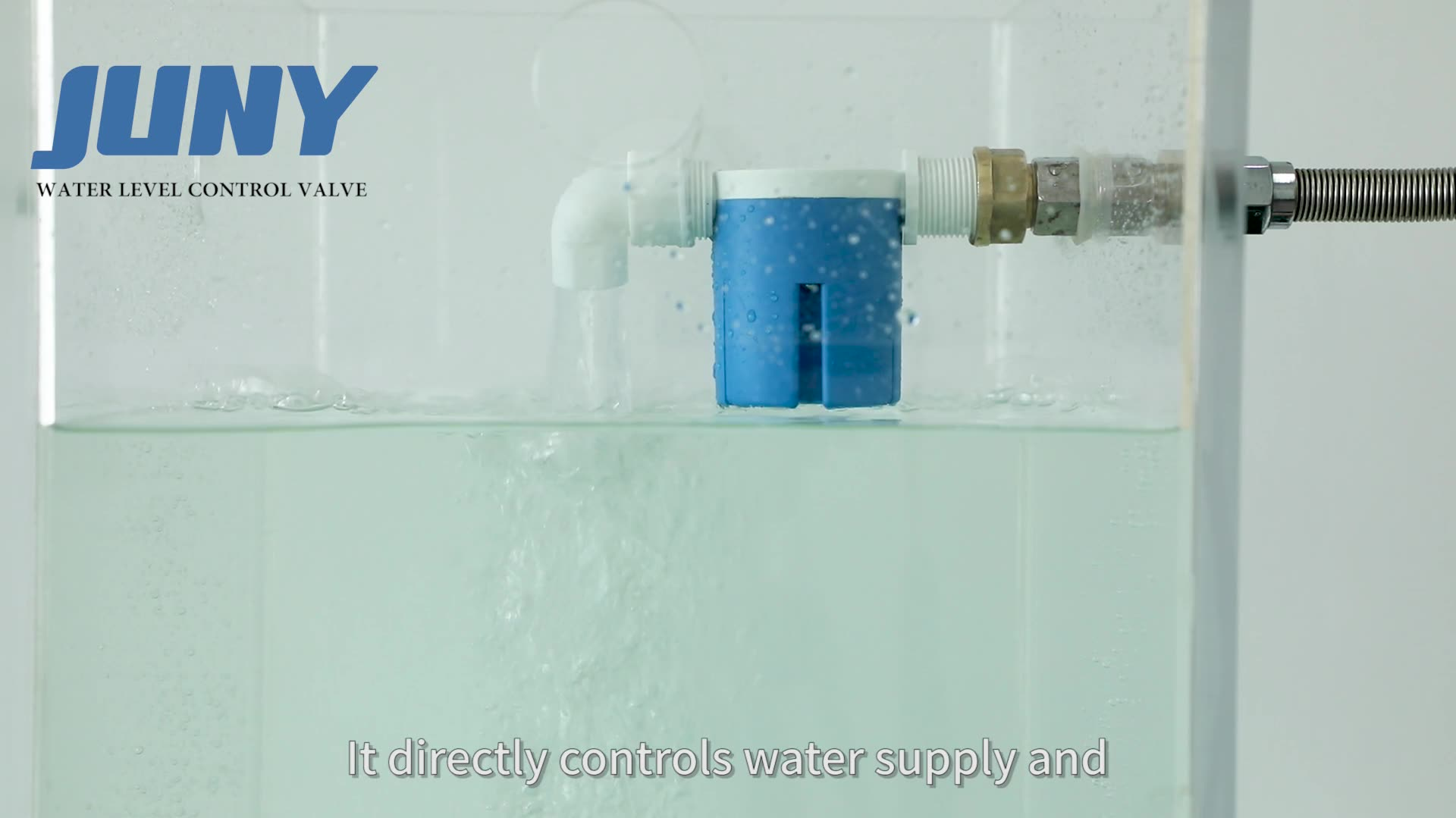 JUNY JYN15 1/2 ''Mini plastik yüzen küresel vana su Tank şamandırası vana