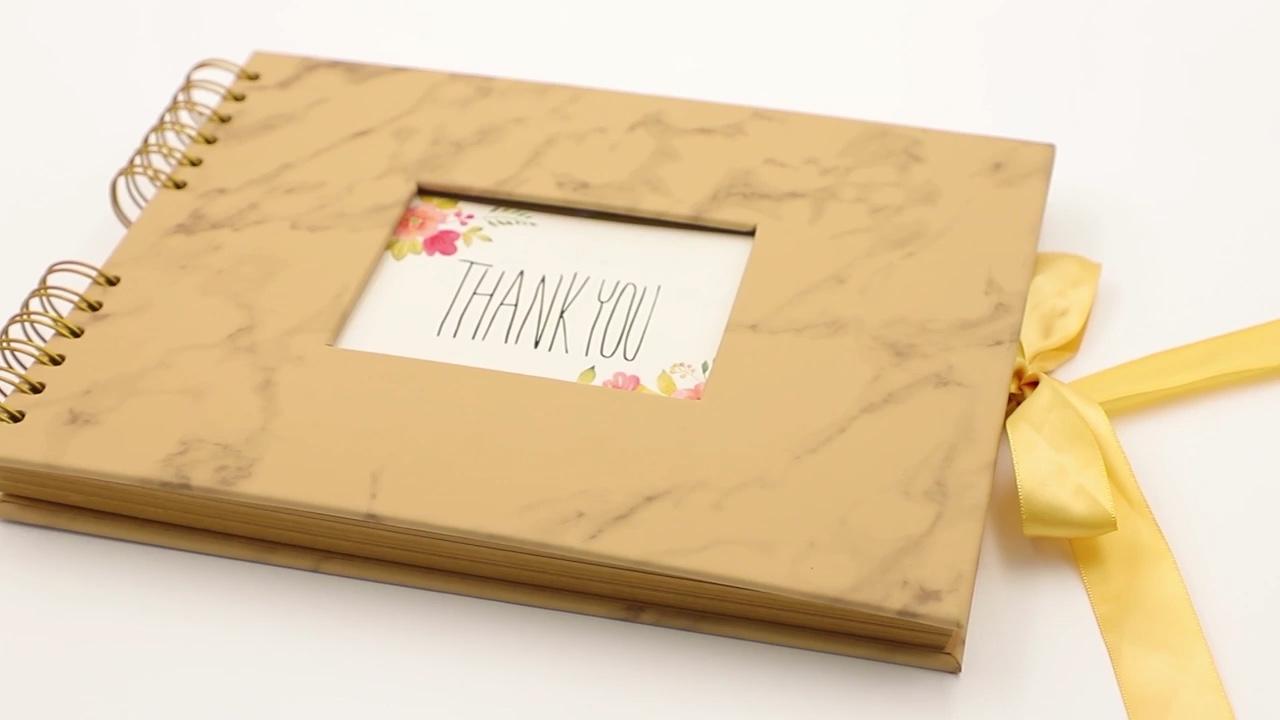 Leopard Print Style Sprial Bound 8X10 Black Photo Album Scrapbook With Window,instax film
