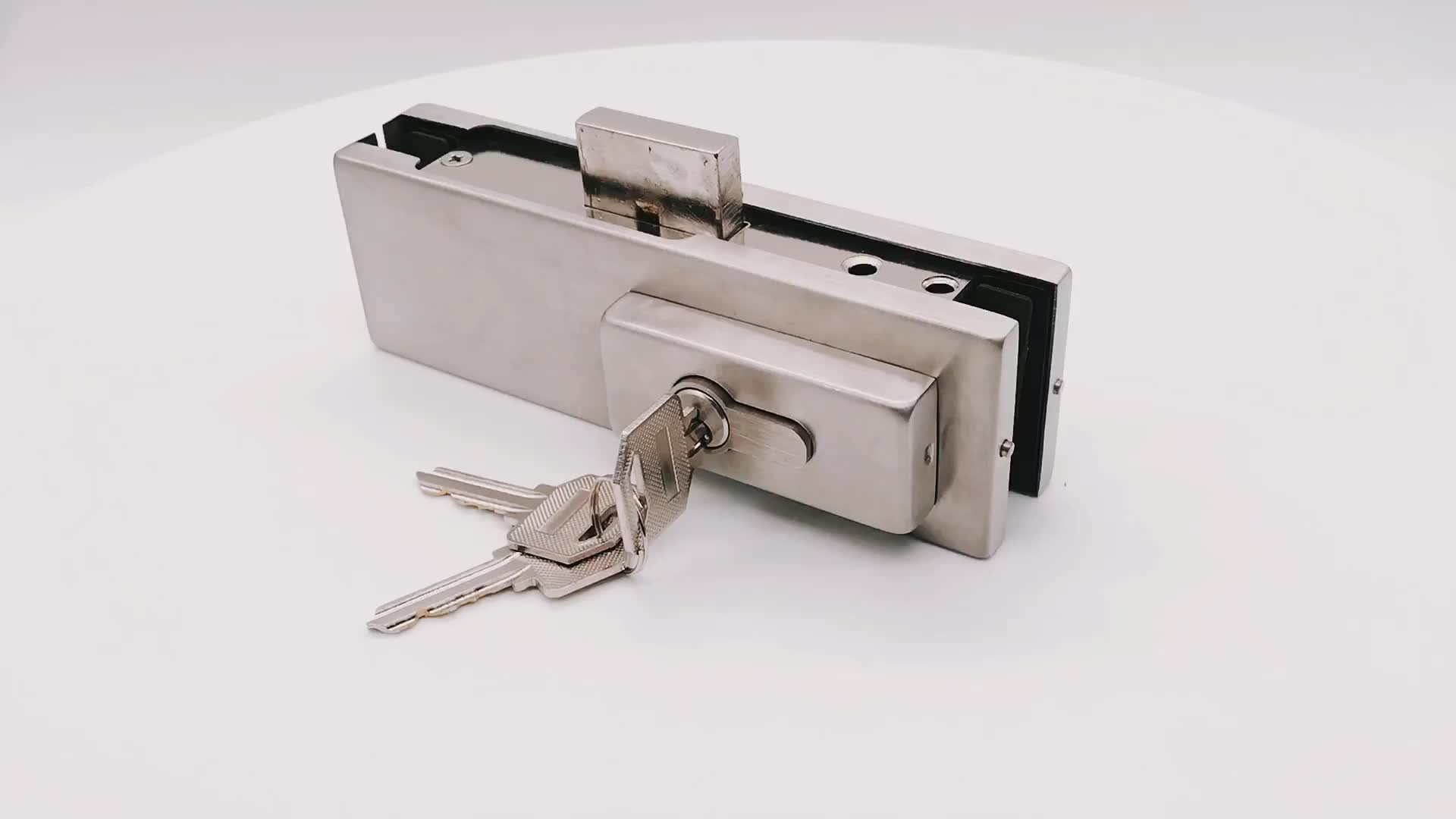China Factory Sell Stainless Steel Glass Door Floor Lock For