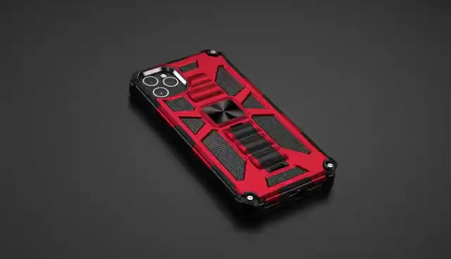 360 Protective Build-In Reinforced Kickstand Anti Drop Heavy Duty Cell Phone Case Hard Plastic Phone Case