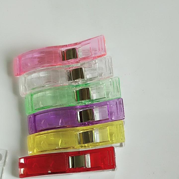 Groothandel Multi Kleur 55 Mm Grote Wonder Clips Naaien Klem Jumbo Plastic Patchwork Naaien Clip Voor Quilten