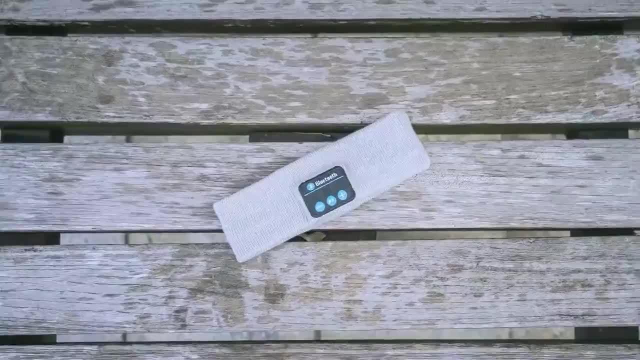 Alto-falantes estéreo Microfone Blue tooth Mãos Livres Cabeça com fone de Ouvido Sem Fio fone de Ouvido Fone de Ouvido para Exercício ao ar livre